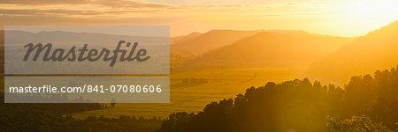 Westland National Park sunset, UNESCO World Heritage Site, West Coast of South Island, New Zealand, Pacific