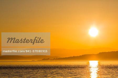 Pacific Northwest sunset, Haro Strait, Saturna Island, British Columbia, Canada, North America