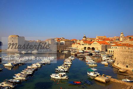 Harbour, Dubrovnik, UNESCO World Heritage Site, Croatia, Europe