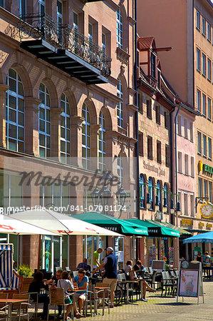 Shopping Area, Nuremberg, Bavaria, Germany, Europe