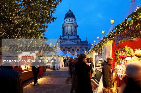 Xmas Market, French Cathedral, Gendarmenmarkt, Berlin, Germany, Europe