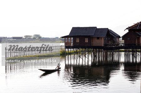 Golden Island Cottages, tourist accommodation on Inle Lake, Nampan Village, Myanmar (Burma)