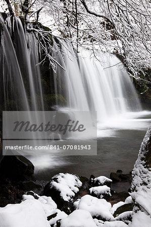 Sgwd Ddwli Waterfall, Brecon Beacons National Park, Powys, Wales, United Kingdom, Europe