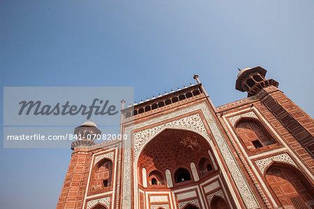 Taj Mahal Gateway, UNESCO World Heritage Site, Agra, Uttar Pradesh, India, Asia