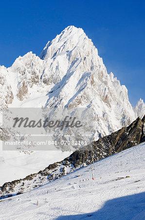 Mont Chardonnet, Argentiere and Grand Montet ski area, Chamonix, Haute-Savoie, French Alps, France, Europe