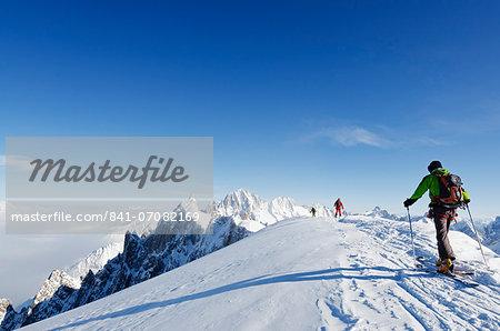 Vallee Blanche, Chamonix, Haute-Savoie, French Alps, France, Europe