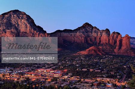 Twilight in Sedona, Arizona, United States of America, North America