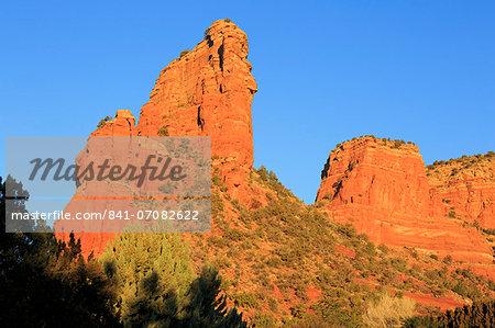 Rock formations in Oak Creek Village, Sedona, Arizona, United States of America, North America