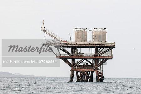 Oil platform near Cabo Blanco, Peru, South America