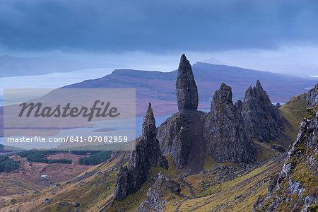 Old Man of Storr on the Isle of Skye, Inner Hebrides, Scotland, United Kingdom, Europe