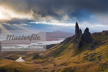 Dramatic landscape at the Old Man of Storr, Isle of Skye, Inner Hebrides, Scotland, United Kingdom, Europe
