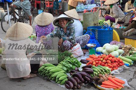 Market, Tra On, Mekong Delta, Vinh Long Province, Vietnam, Indochina, Southeast Asia, Asia