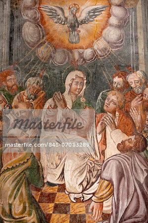 Fresco of the Assumption of Mary in Otranto Duomo (Cathedral), Otranto, Lecce, Apulia, Italy, Europe
