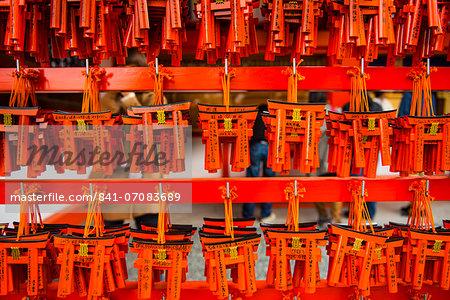 Souvenirs of the Endless Red Gates of Kyoto's Fushimi Inari Shrine, Kyoto, Japan, Asia