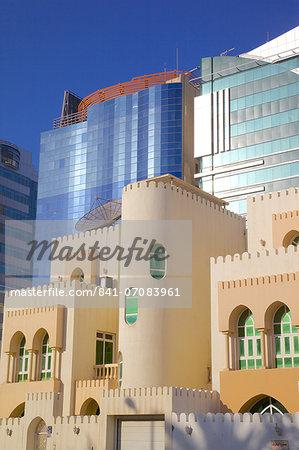 Contemporary architecture, Abu Dhabi, United Arab Emirates, Middle East