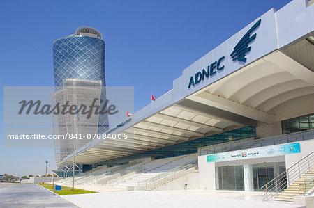 Hyatt Capital Gate Hotel near Abu Dhabi Exhibition Centre from Aloft Hotel, Abu Dhabi, United Arab Emirates, Middle East
