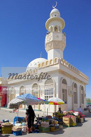 Al Ain, Mosque at Central Market, Al Ain, Abu Dhabi, United Arab Emirates, Middle East