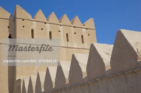 Entrance to Al Murabbaa Heritage Fort, Al Ain, Abu Dhabi, United Arab Emirates, Middle East