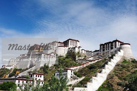 Landmark of the famous Potala Palace in Lhasa,Tibet