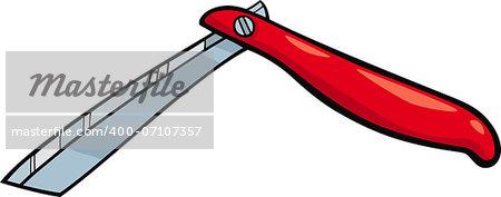 Cartoon Illustration of Razor Clip Art