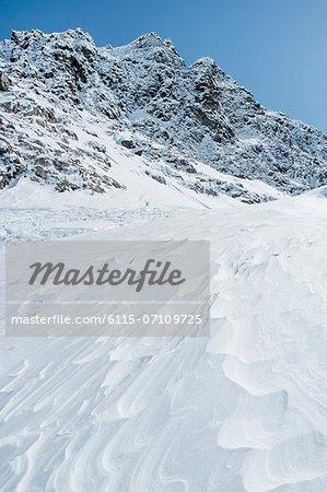 Mountain range, snowcapped rocks, European Alps, Tyrol, Austria