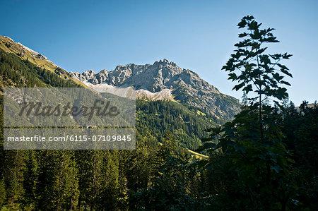 Mountain range, Kleinwalsertal, Vorarlberg, Austria