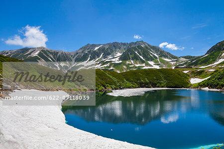 Tateyama mountain range and Mikuriga pond, Toyama Prefecture