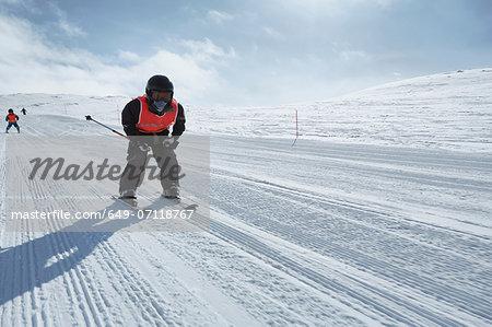 Boy skiing, Hermavan, Sweden