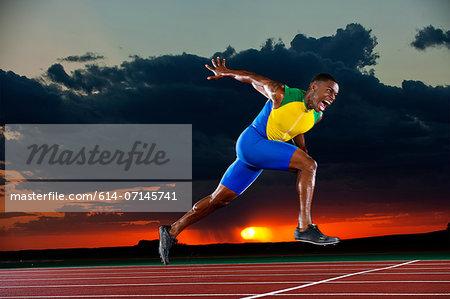 Runner reaching finish line