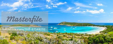 Scenic view of the Gulf of Rondinara (between Bonifacio and Porto-Vecchio) Corsica, France