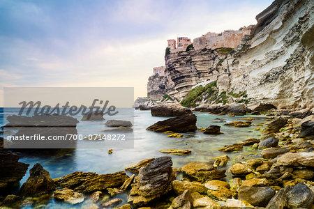 Scenic view of the Citadel and cliffs, Bonifacio, Corsica, France