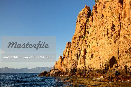Coastal view of the Calanques de Piana, (Unesco World Heritage Site) Gulf of Porto, Corsica, France