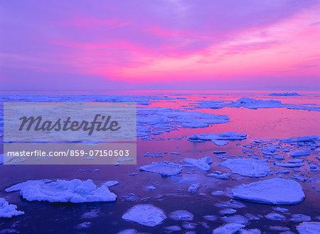 Drift Ice, Kunashir Island, Hokkaido, Japan
