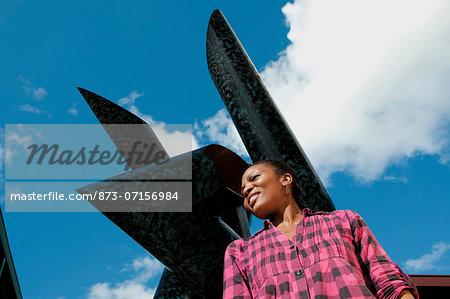 Woman outside Polokwane Art Gallery