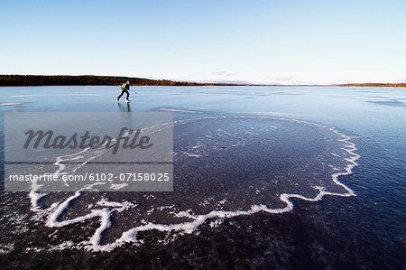 Woman long-distance skating