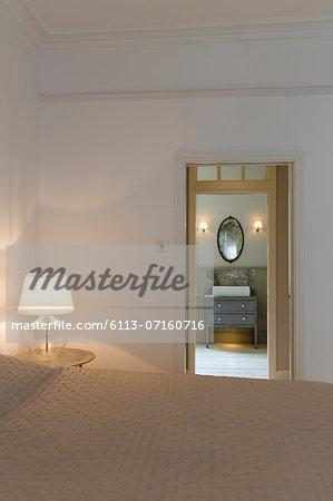 Doorway in modern bedroom