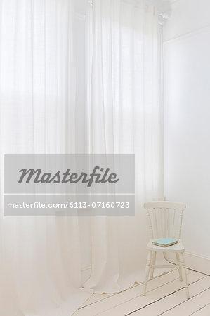 Sheer curtains in modern room