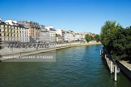 Seine  embankment , Paris, France