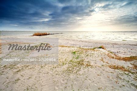 sand coast by Ijsselmeer, Hindeloopen, the Netherlands