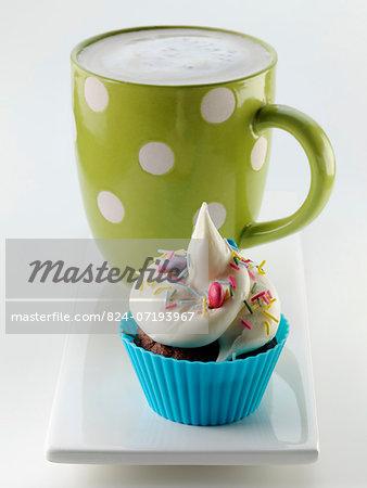 Cupcake and coffee mug