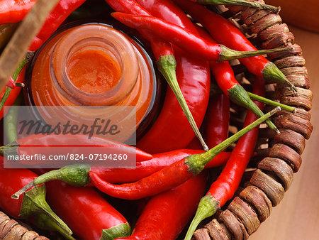 Making chilli sauce