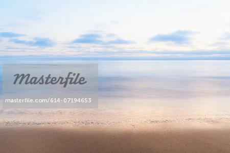 Tranquil sea, Encinitas, California, USA
