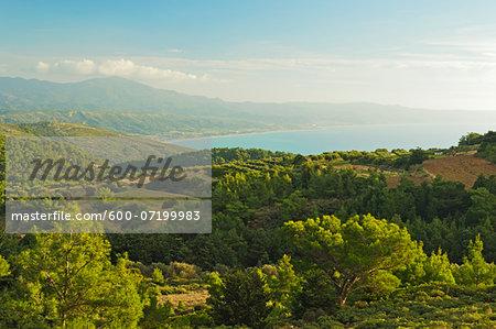 View of Apolakkia Bay from Monolithos, Rhodes, Dodecanese, Aegean Sea, Greece, Europe