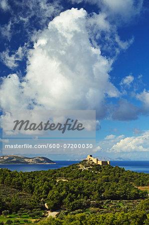 Kritinia Castle, Rhodes, Dodecanese, Aegean See, Greece, Europe