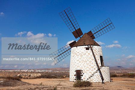 Windmill, Valles de Ortega, Fuerteventura, Canary Islands, Spain, Europe