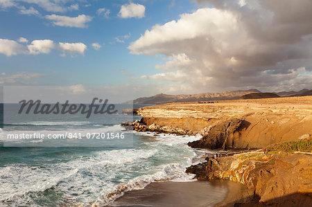 Sunset at Playa del Viejo Rey, La Pared, Fuerteventura, Canary Islands, Spain, Atlantic, Europe