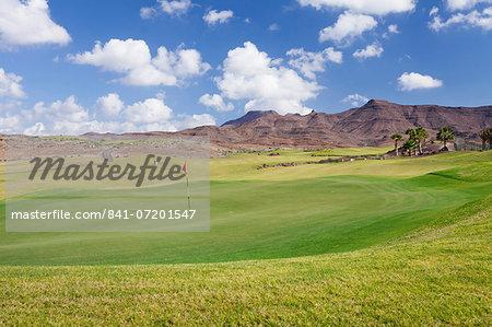Golf course, Las Playitas, Fuerteventura, Canary Islands, Spain, Europe