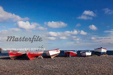Fishing boats, Pozo Negro, Fuerteventura, Canary Islands, Spain, Atlantic, Europe