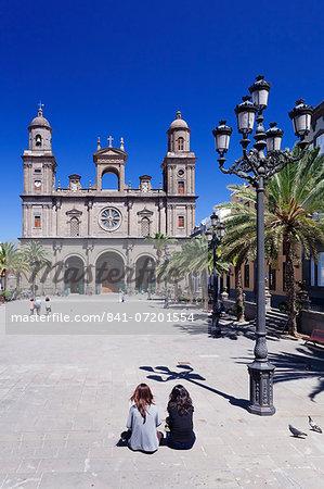 Santa Ana Cathedral, Plaza Santa Ana, Vegueta Old Town, Las Palmas, Gran Canaria, Canary Islands, Spain