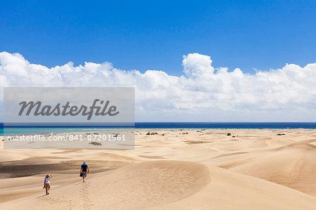 Sand dunes of Maspalomas, Maspalomas, Gran Canaria, Canary Islands, Spain, Atlantic, Europe